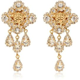 Versace Medusa crystal drop earrings