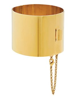 Céline Resort 2011 gold edge cuff as seen on Rihanna