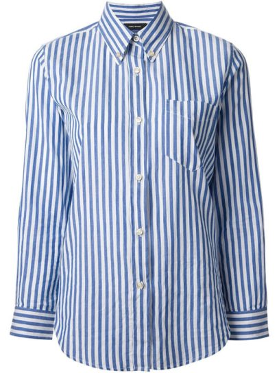 Isabel Marant Eddie striped shirt as seen on Rihanna