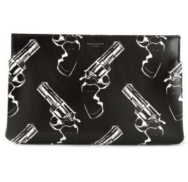 Saint Laurent gun print clutch as seen on Rihanna
