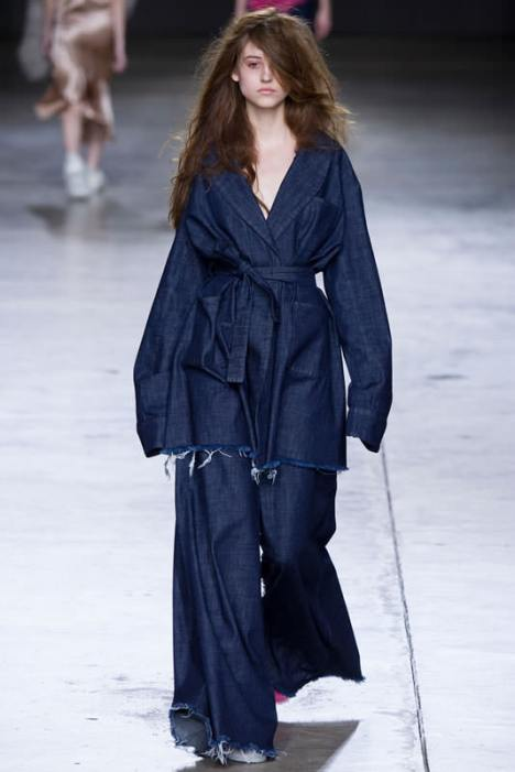 Marques'Almeida Fall 2014 frayed wide leg jeans as seen on Rihanna
