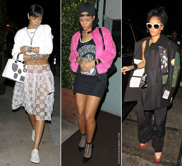 Rihanna's best off duty candid outfits of 2014