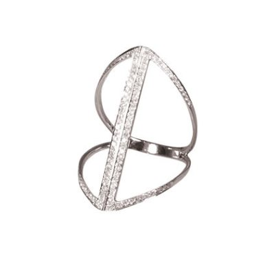 Djula Double Line ring as seen on Rihanna