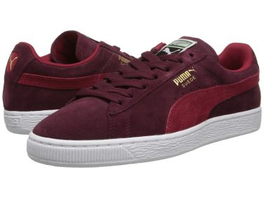 Puma Suede Classic WN sneakers in Zinfandel/Jester Red as seen on Rihanna