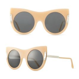 Stella McCartney flat cat eye nude sunglasses as seen on Rihanna
