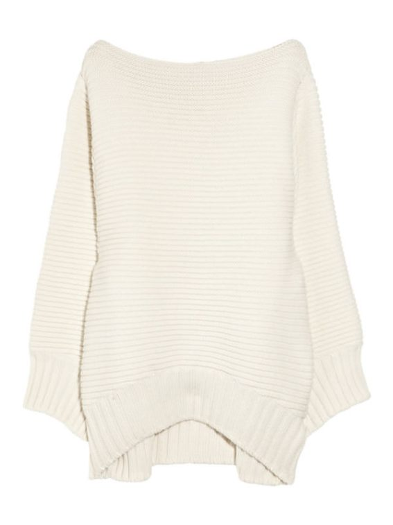 Chalayan ivory merino wool and cashmere sweater as seen on Rihanna