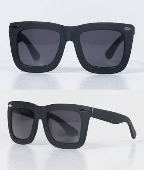 Grey Ant Status sunglasses in matte black as seen on Rihanna
