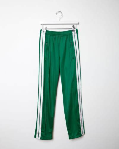 Isabel Marant Étoile Patsy green striped pants as seen on Rihanna