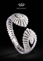 Casa Reale 18k white gold and diamond bracelet as seen on Rihanna