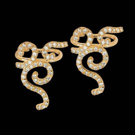 Colette yellow gold and white diamond Savute ear cuff as seen on Rihanna