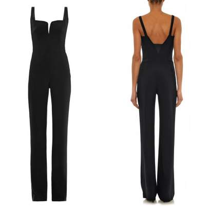 Galvan hidden-corset crepe jumpsuit as seen on Rihanna