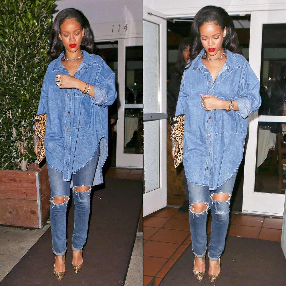 separation shoes 370a0 1f090 Rihanna in Christian Louboutin So Kate Brocart Pumps