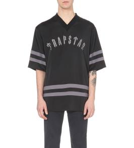 Trapstar satin hockey t-shirt as seen on Rihanna