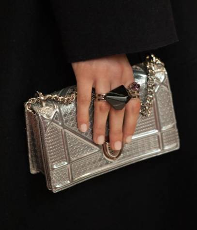 Dior Pre-Fall 2015 Diorama clutch handbag as seen on Rihanna