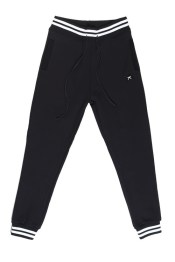 Karl Kani signature sweatpants with striped cuffs and waist as seen on Rihanna