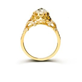 Nora Kogan Anastasia yellow gold and diamond ring as seen on Rihanna