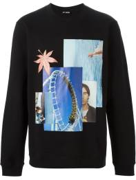 Raf Simons photo collage print sweatshirt as seen on Rihanna