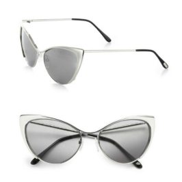 Tom Ford Nastasya silver cat eye sunglasses as seen on Rihanna