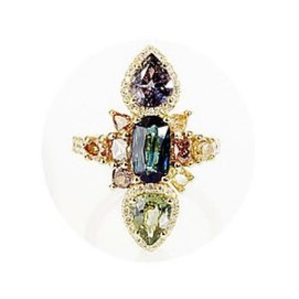 Xiao Wang Galaxy ring with diamonds and sapphires as seen on Rihanna