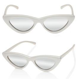 Adam Selman x Le Specs The Last Lolita sunglasses in matte pearl as seen on Rihanna
