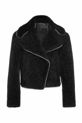 Alexander Wang Fall 2015 shearling studded jacket as seen on Rihanna