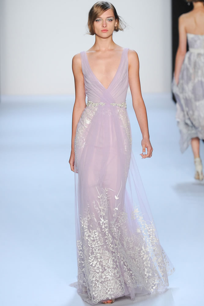 Badgley Mischka Spring 2014 lilac gown as seen on Rihanna