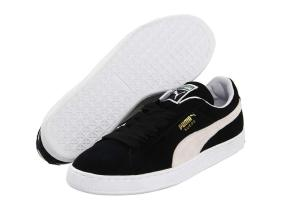 Puma Suede Classic black and white sneakers as seen on Rihanna
