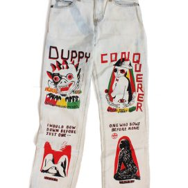 Come Tees Duppy Conqueror jeans as seen on Rihanna