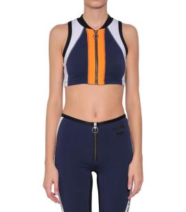 Diesel Tribute Sport T-Legend sleeveless zip front top as seen on Rihanna