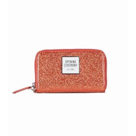 Opening Ceremony coral glitter coin purse as seen on Rihanna