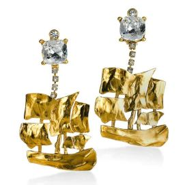 Yves Saint Laurent vintage ship earrings as seen on Rihanna