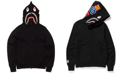 A Bathing Ape glow-in-the-dark shark hoodie as seen on Rihanna