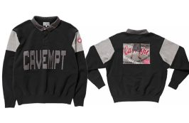 Cav Empt collared sweatshirt as seen on Rihanna