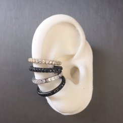Lynn Ban orbital hoop ear cuffs as seen on Rihanna