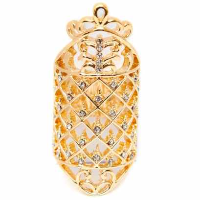Melody Ehsani crystal fence ring as seen on Rihanna