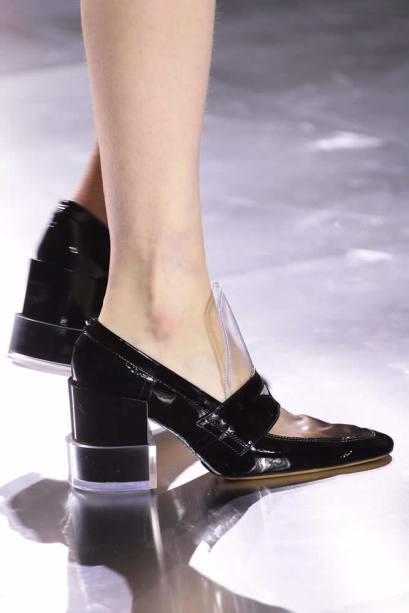 Maison Margiela Fall 2015 pvc shoes as seen on Rihanna