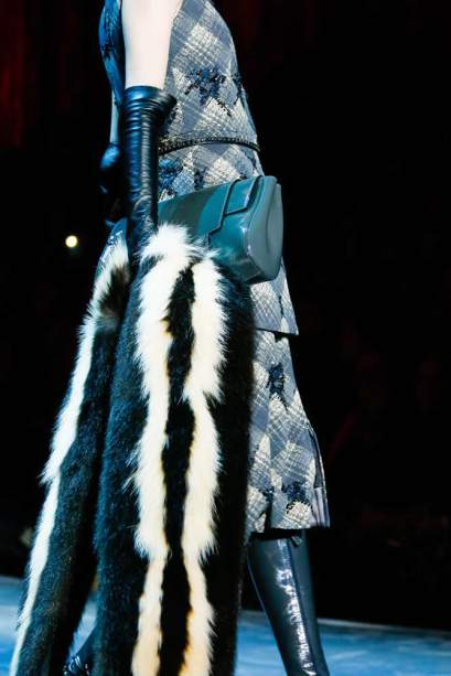 Marc Jacobs Fall 2015 fur stole as seen on Rihanna