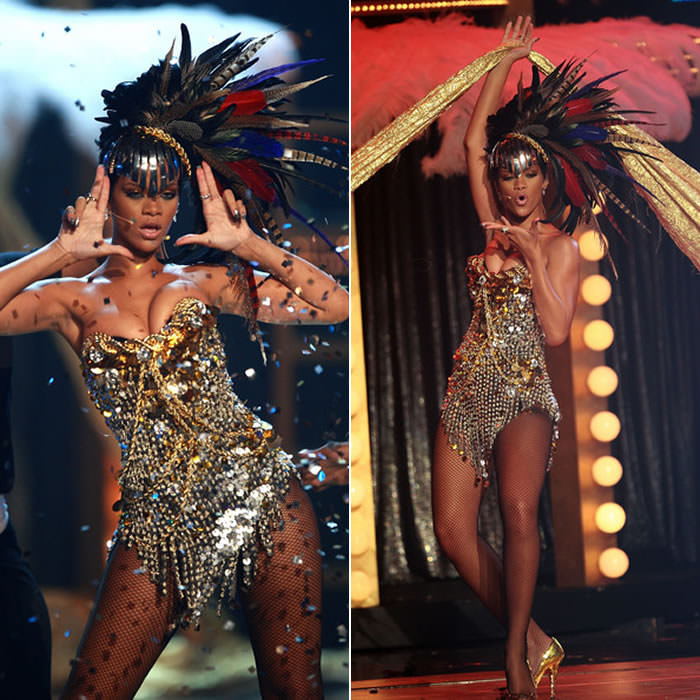 Rihanna The Blonds bustier costume fashion rocks 2008
