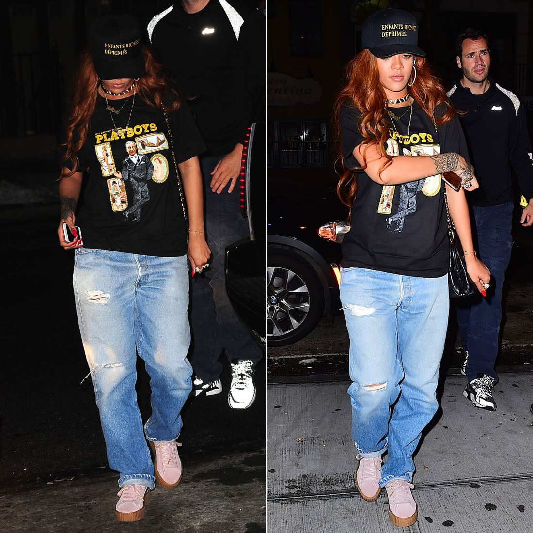 a59f4d442e7 Just yesterday afternoon Rihanna travelled back to New York City after  spending about two weeks working on different projects. She wasted no time  getting ...