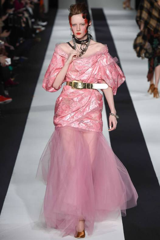 Vivienne Westwood Red Label Fall 2015 pink lace dress as seen on Rihanna