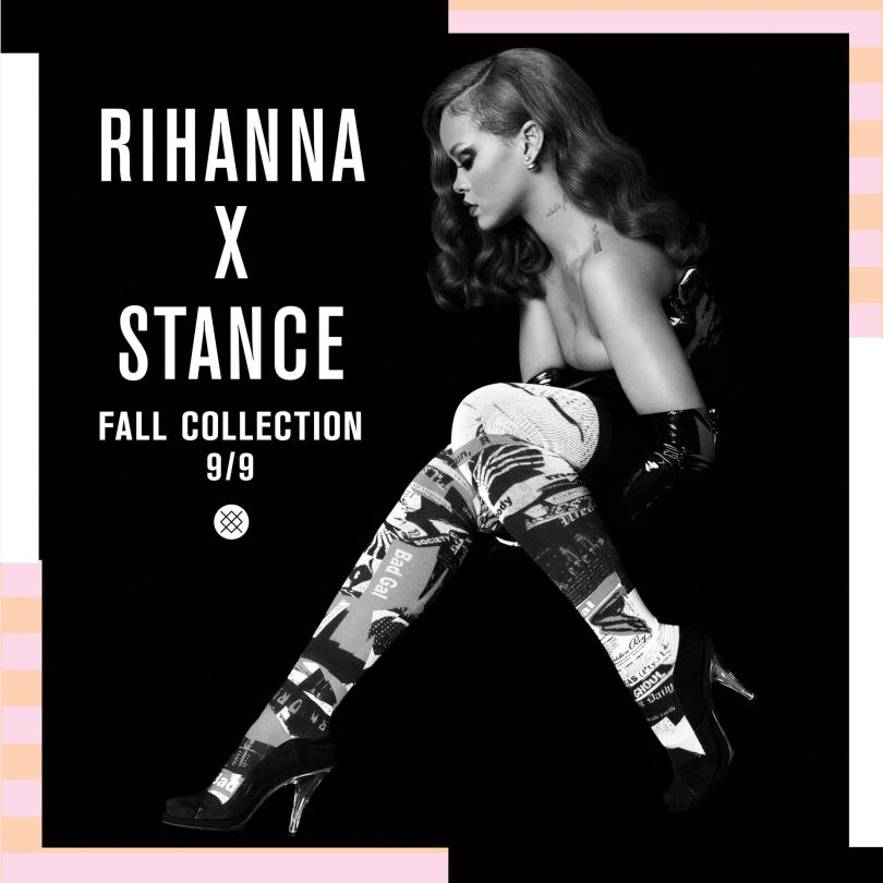 Rihanna x Stance Fall collection ad campaign