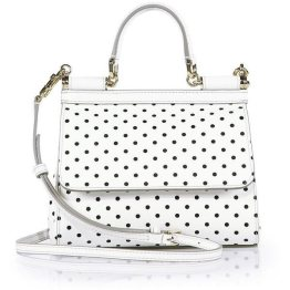 Dolce and Gabbana Sicily polka dot handbag as seen on Rihanna