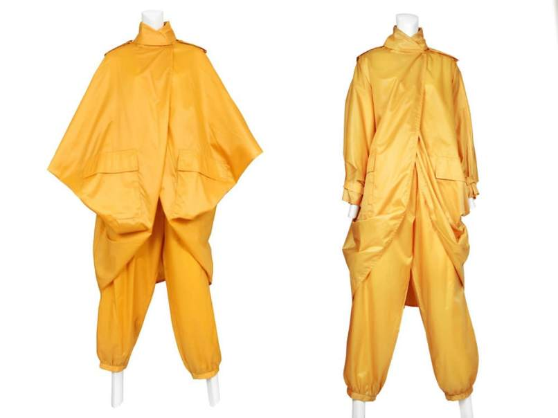Issey Miyake vintage yellow windsuit from 1978 as seen on Rihanna