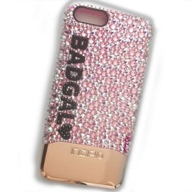 Richesse NYC custom Swarovski crystal Bad Gal iPhone case as seen on Rihanna