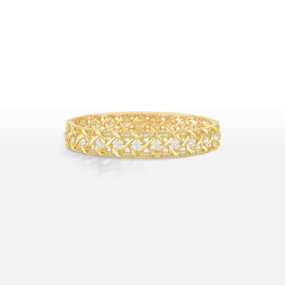 Dior My Dior 18k gold and white diamond bracelet as seen on Rihanna