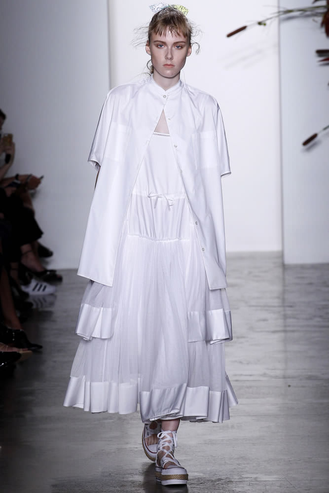 Adam Selman Spring 2016 white tiered dress as seen on Rihanna