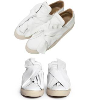 Ports 1961 Bee draped knot slip-on sneakers as seen on Rihanna