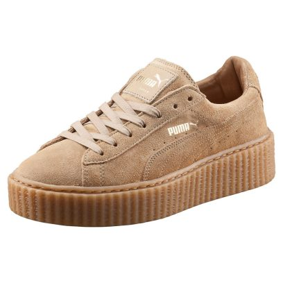 Puma by Rihanna suede creepers in oatmeal as seen on Rihanna