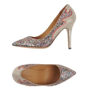 Isabel Marant Etoile Gilby glitter pumps as seen on Rihanna
