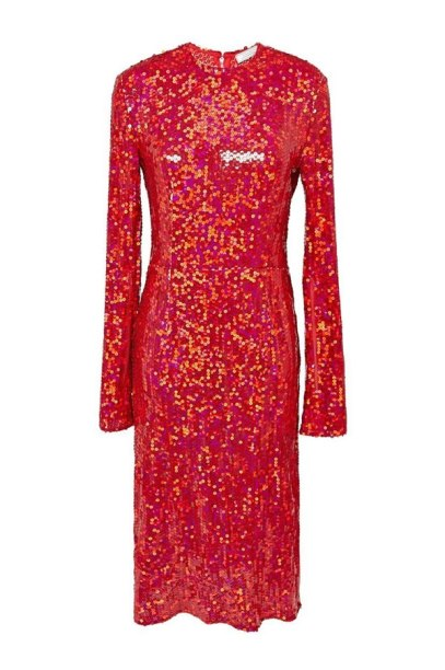 Nina Ricci Fall 2015 red sequin dress as seen on Rihanna
